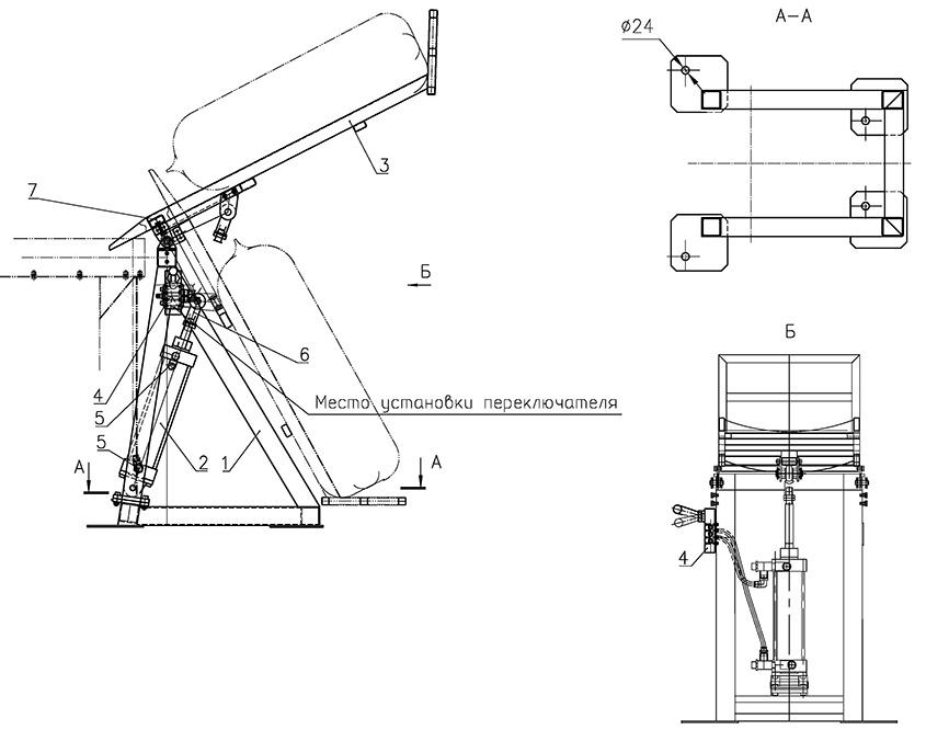 Мешкоопрокидыватели типа МШП - Схема