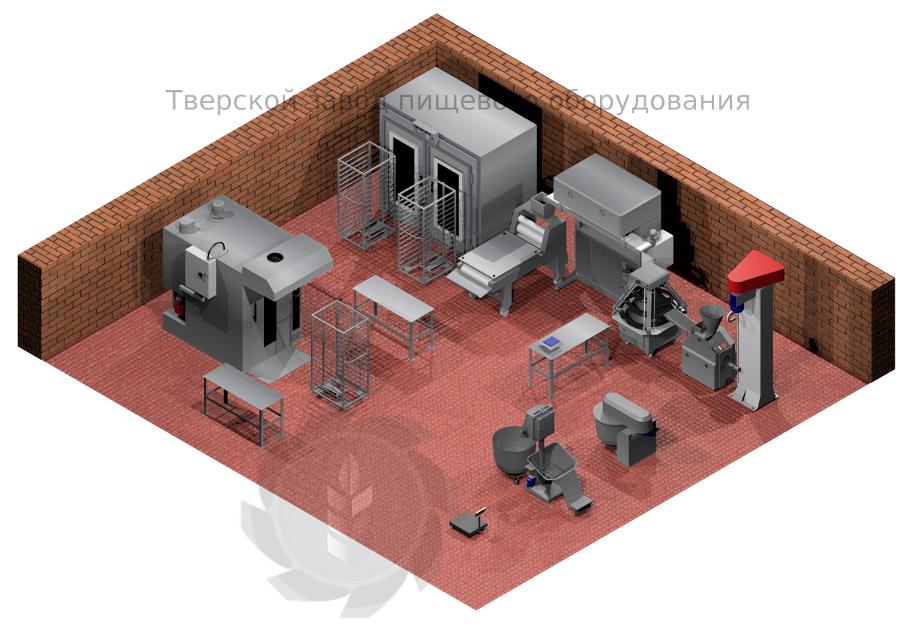 Пекарня Волга 1500 газовая, комплектация Люкс