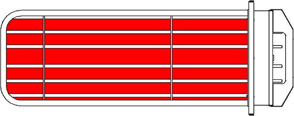 Рисунок 2 - Расположения ТЭНов в колодезном порядке.