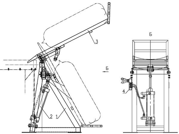 Схема работы мешкоопрокидывателя