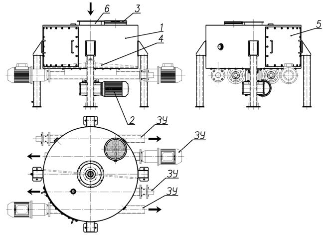 Устройство узла распределительного тарельчатого УРТ110