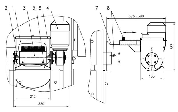 Общий вид и устройство мукопосыпателя