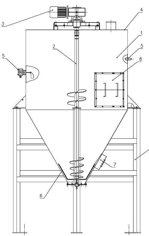 Общий вид Бункер технологический с ворошителем БТВ-16-2