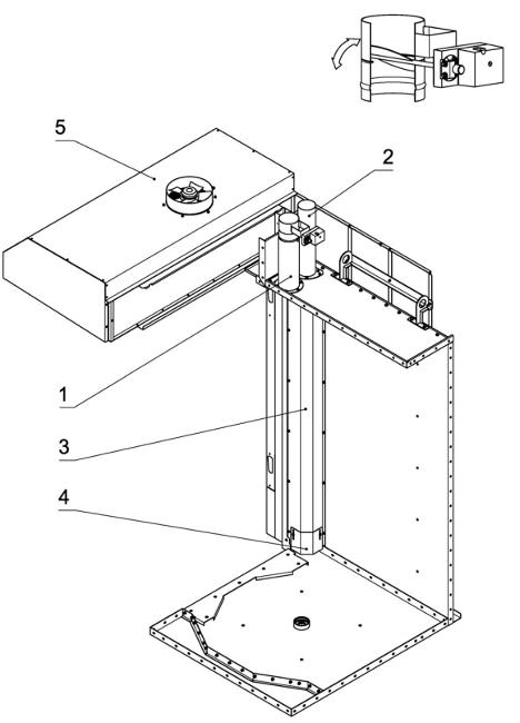 Система пароудаленияпечи Ротор-Агро
